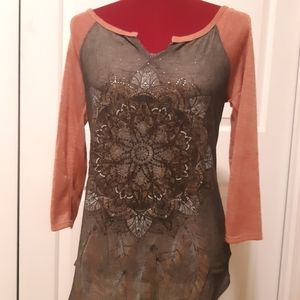 Maurices Jersey Style Studded Graphic Top - Small